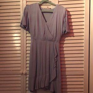 Lauren Conrad Blue flutter sleeve dress